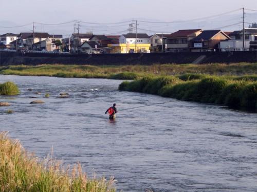 鮎漁の解禁(玖珠川・大山川合流点付近)