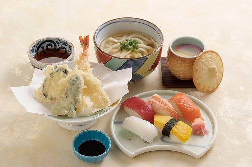 天ぷら寿司定食