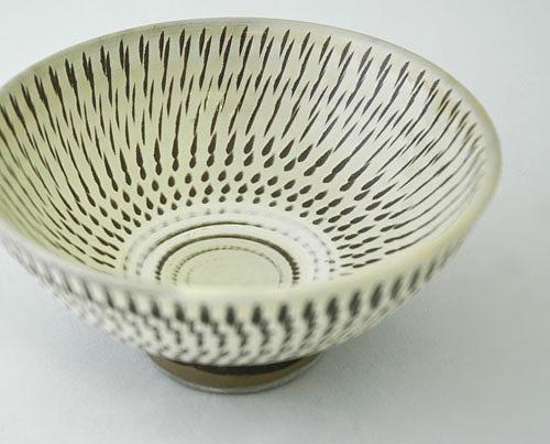 この陶器には飛び鉋という技法が使われています。